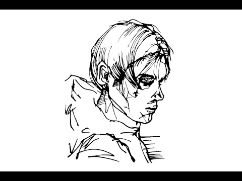 480x360 Drawing 5 (How To Draw A Boy Side View)
