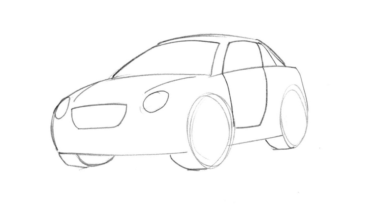 1200x716 Learn How To Draw A Cartoon Car Easy Junior Car Designer