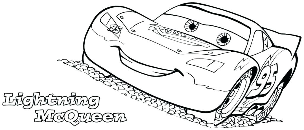 1024x440 Lighting Mcqueen Coloring Pages Lightning Coloring Pages Side View
