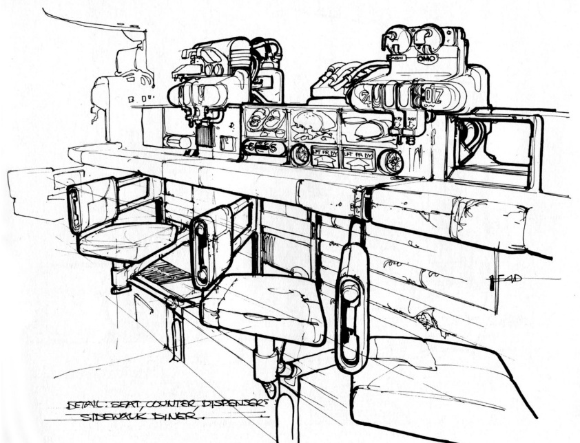 842x644 Blade Runner Concept Art From The Closed Case File Of Rick Deckard