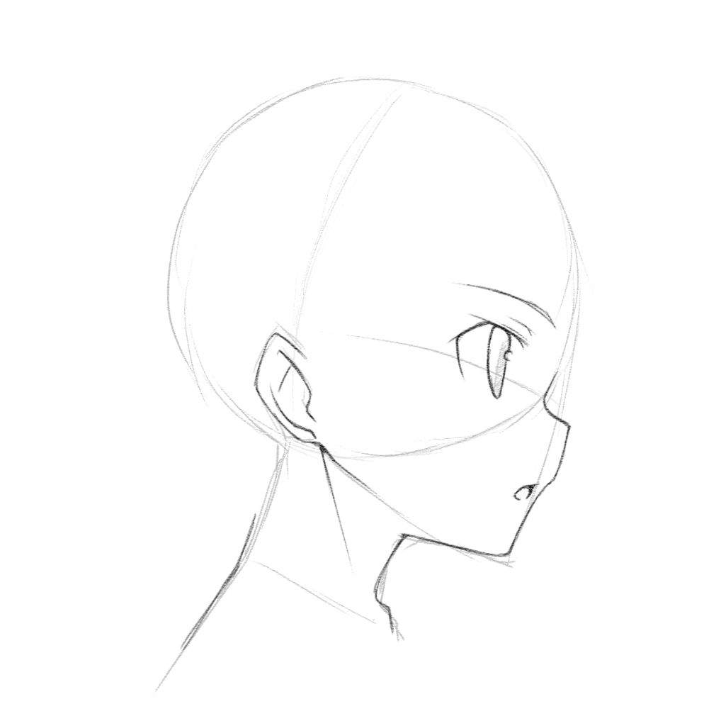 This is an image of Irresistible Side Face Drawing Anime