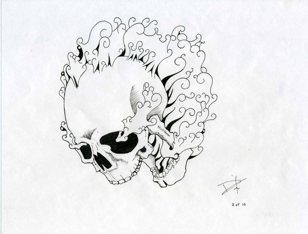1000x759 Smoke Skull By Joshdixart