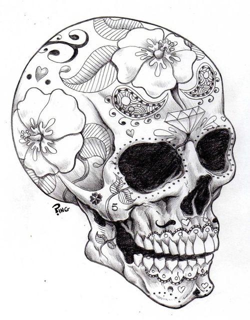 500x641 559 Best (Sugar) Skulls And Cross Bones Images