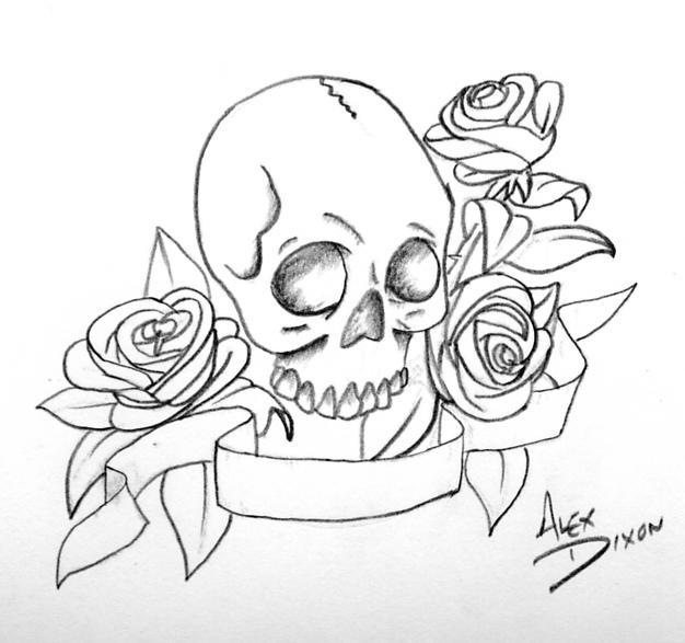 626x587 Skull And Filigree By Sideways Saint