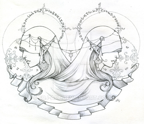 600x519 Sisters Of Second Sight Sketch By Srj Art