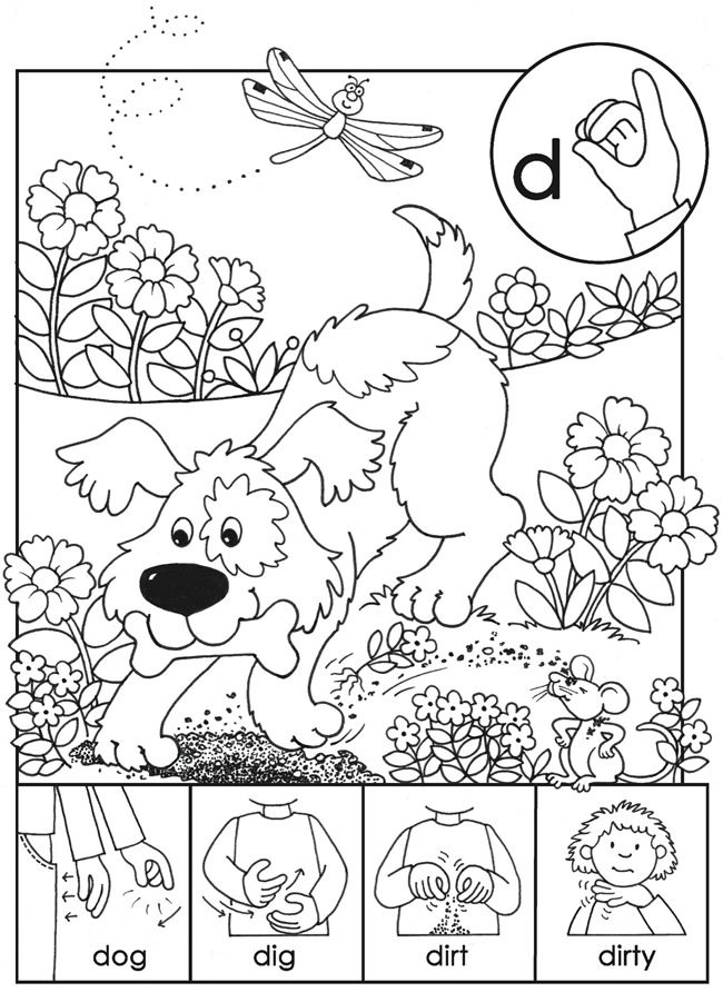 language arts coloring pages printable free | Sign Language Drawing at GetDrawings.com | Free for ...