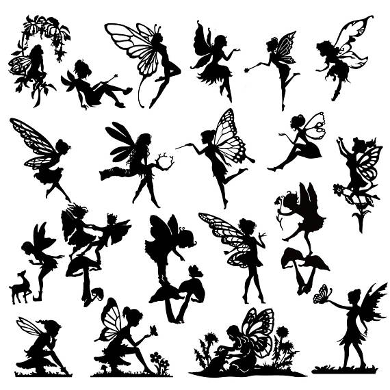 570x570 Detailed Fairy Die Cut Out Silhouette