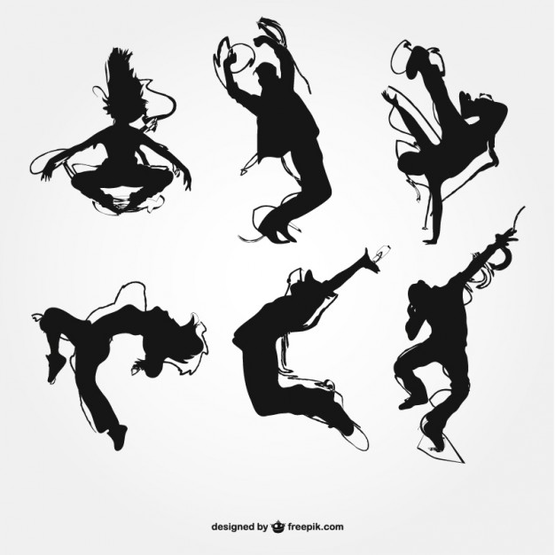 626x626 Modern Dance Silhouettes Vector Free Download
