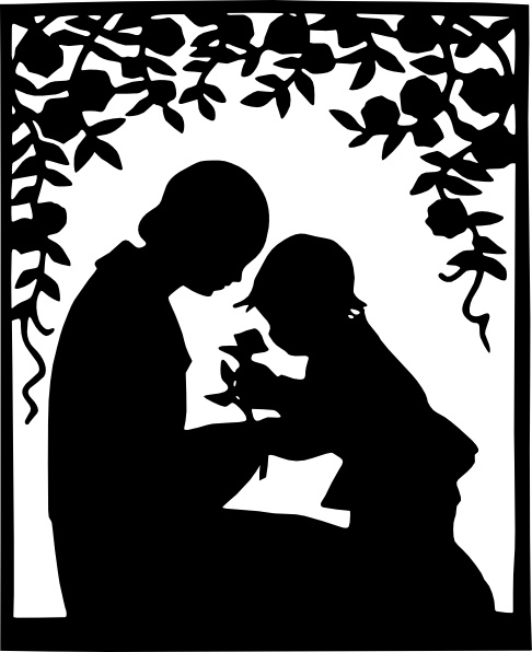 486x596 Mother And Child Silhouette Clip Art Free Vector In Open Office