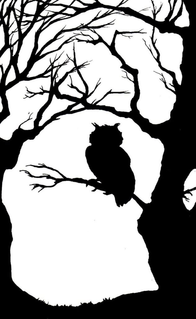 632x1024 Silhouette Drawing