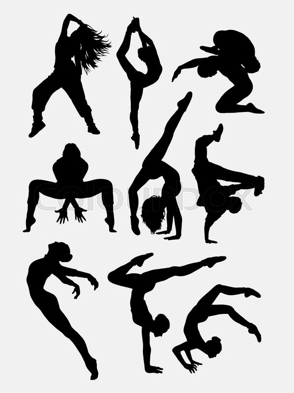 598x800 Beautiful Dancer Performing Silhouette 1. Male And Female Dance