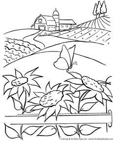 235x288 Farm Scenes Coloring Page Farm Life