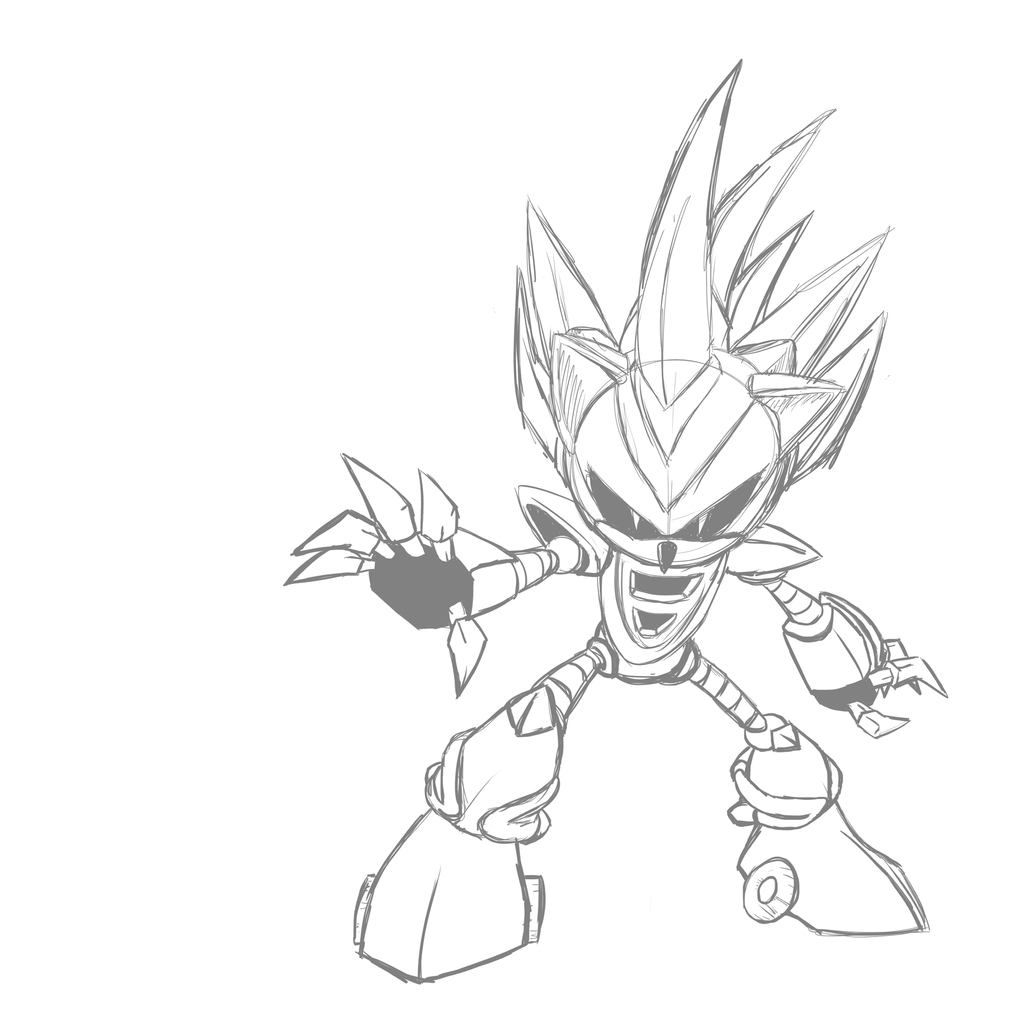 1024x1024 Silver Sonic M.2 Sketch By Sasscannon