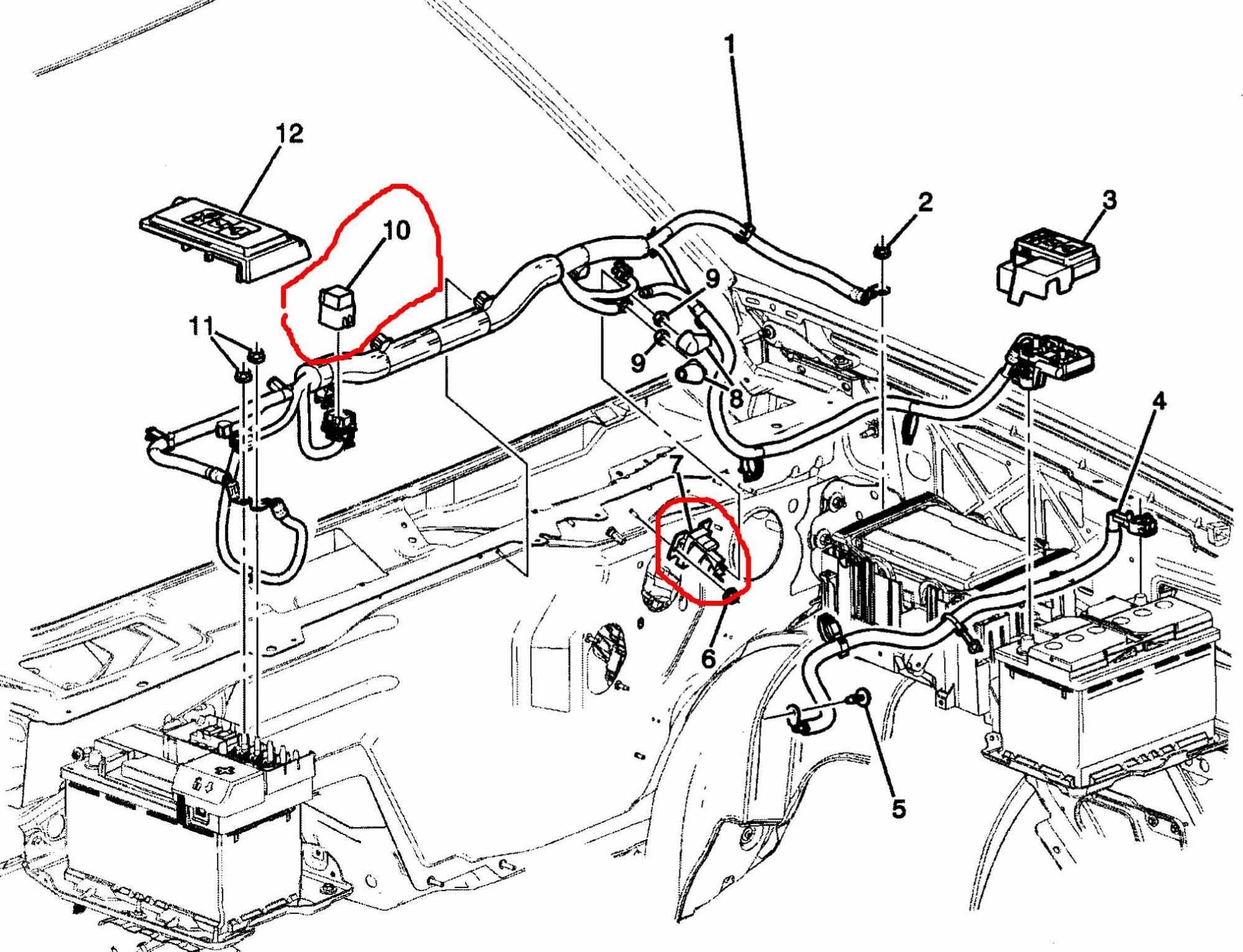 Silverado Drawing At Free For Personal Use 2008 Cruise Control Wiring Diagram 2000x1532 Auxiliary Battery