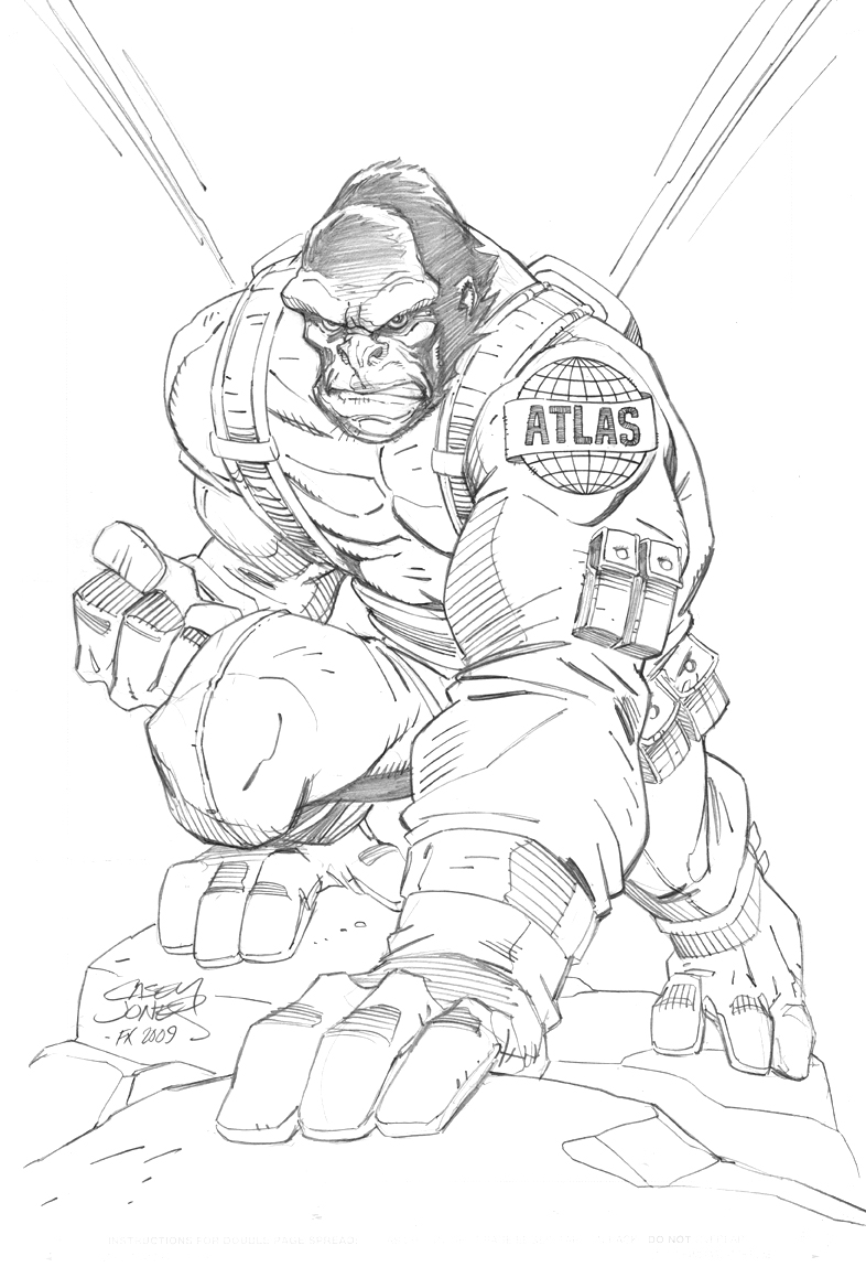 Silverback Gorilla Drawing at GetDrawings.com | Free for personal ...