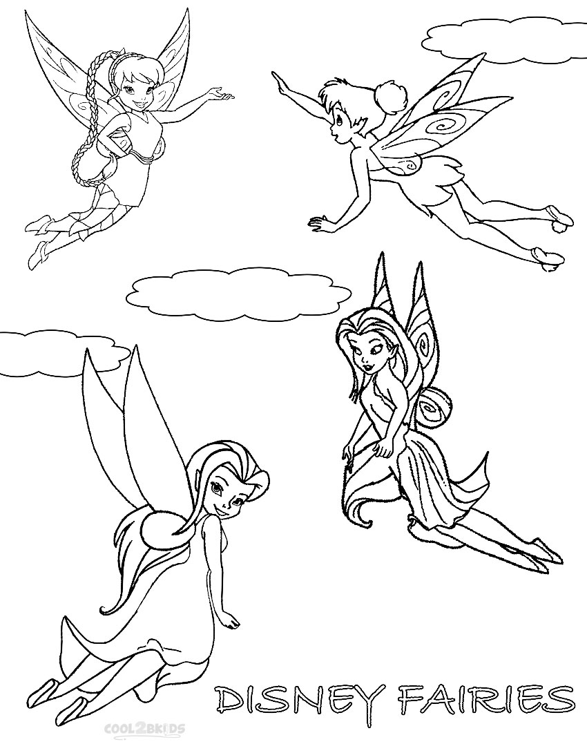 Tinkerbell Silvermist 01 Coloring Page looney tunes coloring sheets ...