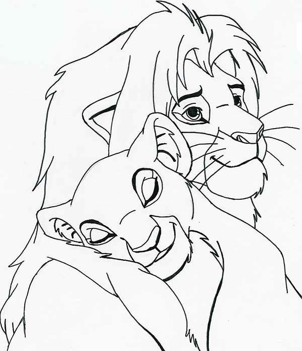 Simba And Nala Drawing at GetDrawings.com | Free for personal use ...