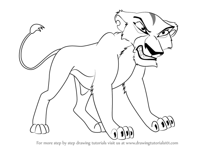 how to draw simba from lion king easy