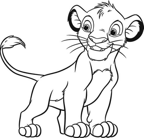 600x575 Lion King Simba Coloring Pages
