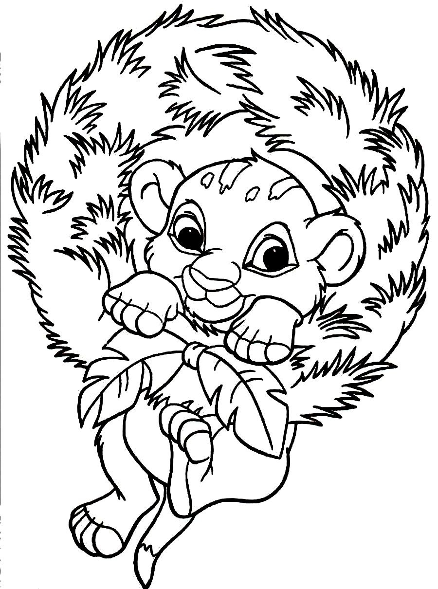 900x1210 Simba Coloring Pages