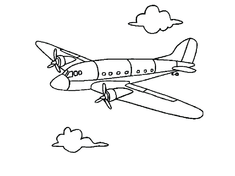 1000x750 Airplane For Coloring Simple Airplane Coloring Page Airplane
