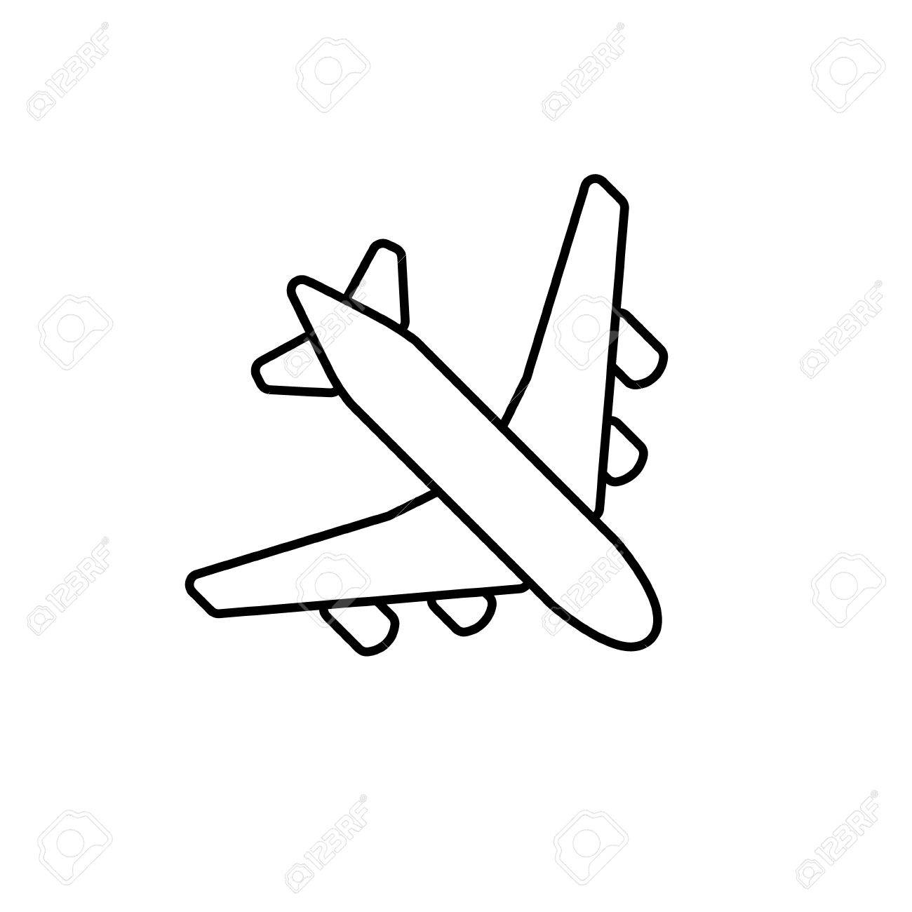 It is a graphic of Transformative Easy Airplane Drawing