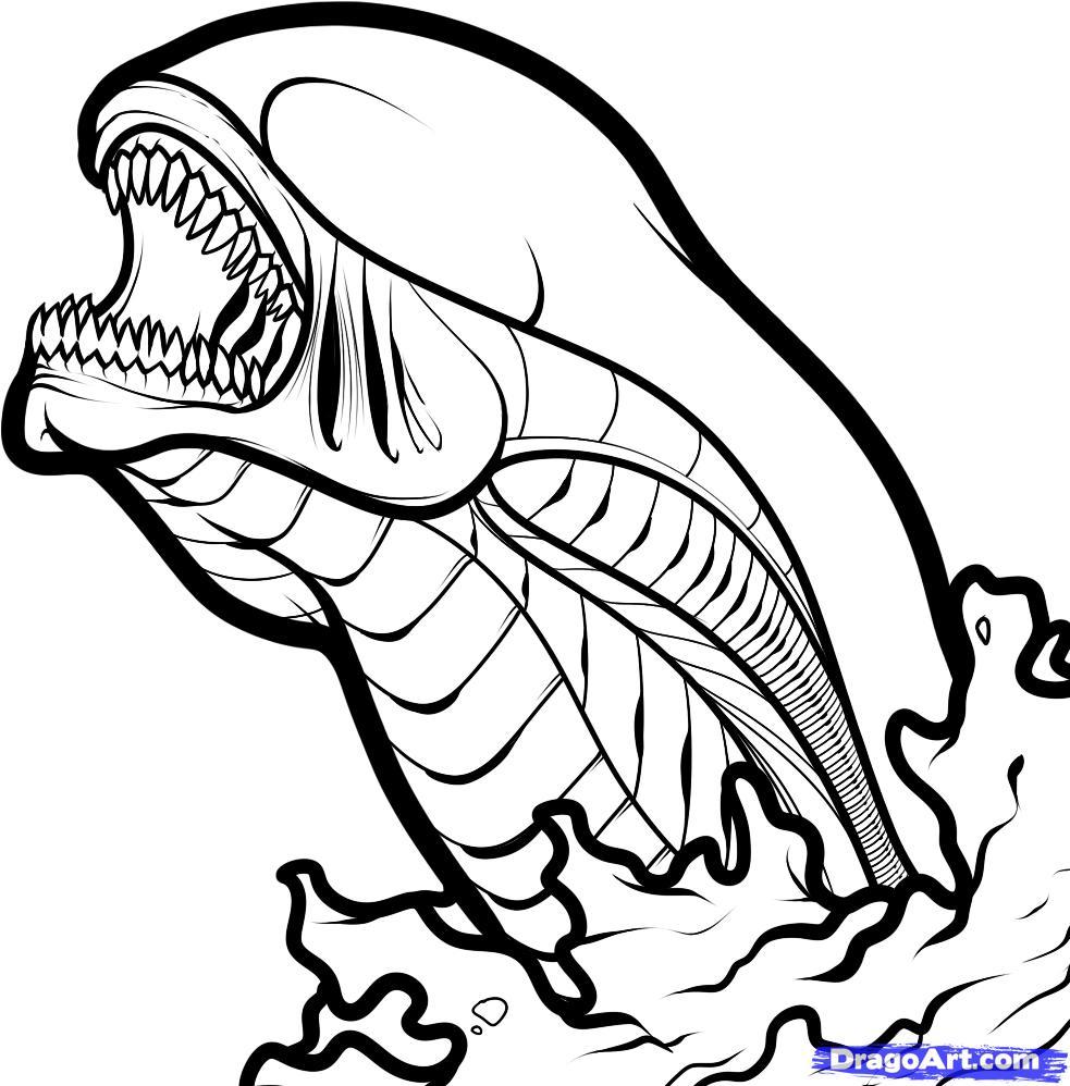 Simple Alien Drawing