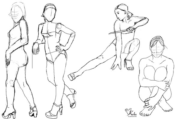 600x397 Human Anatomy Drawing Practice Drawing Practice 2 Keko