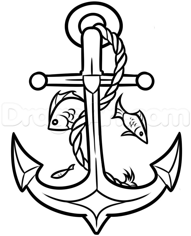 731x902 Simple Anchor Coloring Pages Quote Coloring Pages