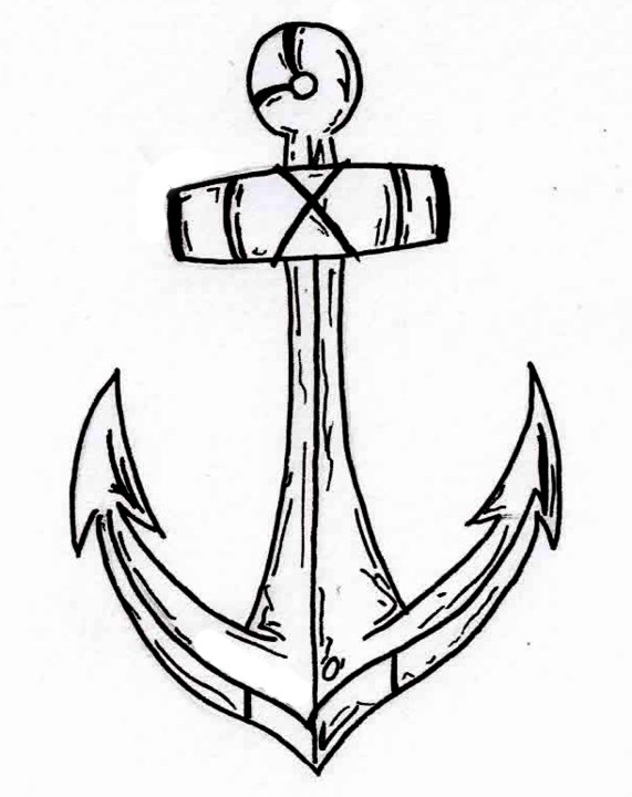 571x720 Simple Tattoo Anchor By Koast08