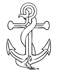239x302 How To Draw An Anchor Step 6 Drawing Tattoo