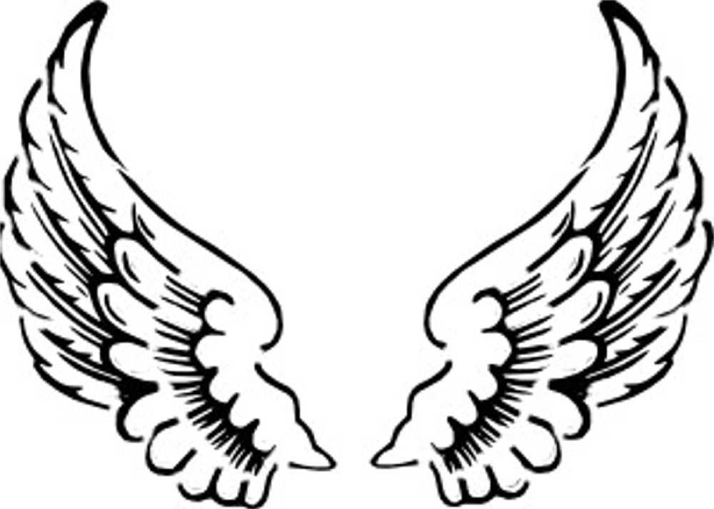 Simple Angel Wing Drawing at GetDrawings.com | Free for personal use ...
