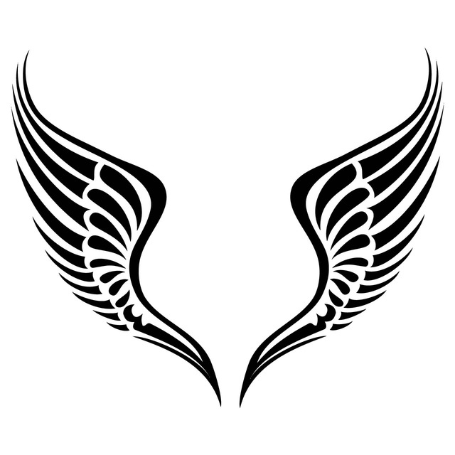 simple angel wing drawing at getdrawings com free for personal use rh getdrawings com angel wings clip art for memorial angel wings clip art you can add a picture to