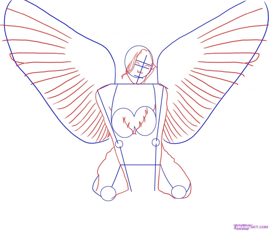 1024x879 Easy To Draw Angel Wings How To Draw Angel Wings In Simple Steps