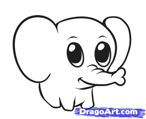 483x394 Step 6. How To Draw A Simple Elephant
