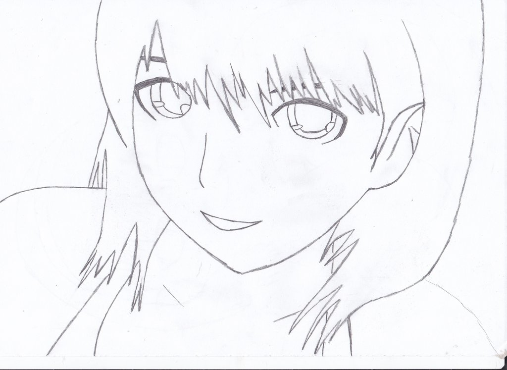 1024x747 Simple Anime Girl Drawing By Me By Naruxhinata