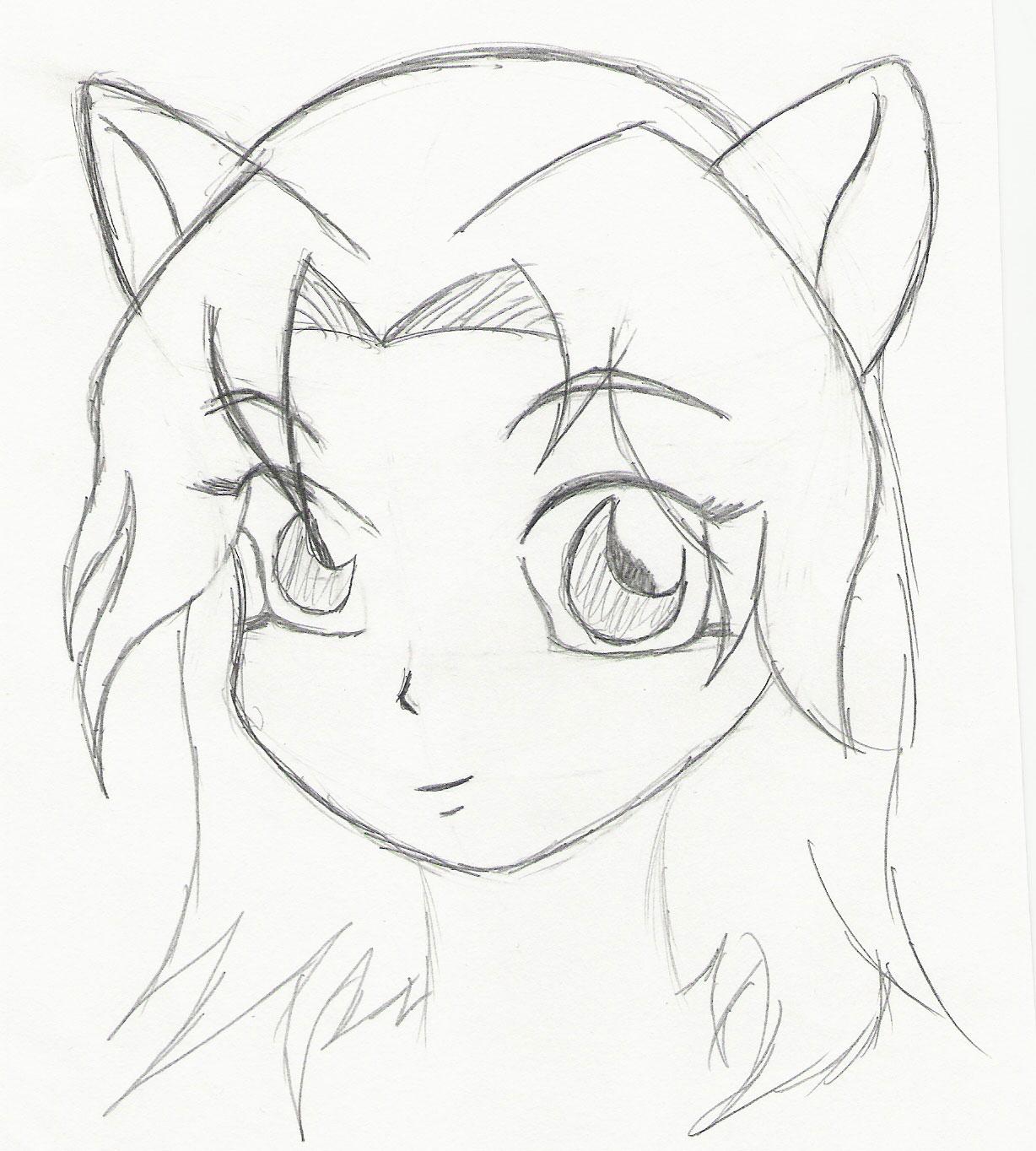1228x1364 Anime Drawings Girl Easy Simple Anime Girl Drawing Easy Manga Girl