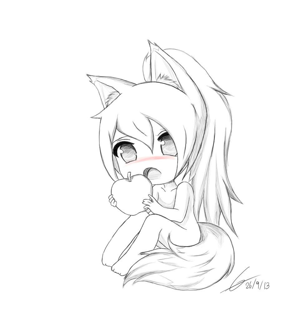 900x1011 Cute Anime Girl Sketch Chibi