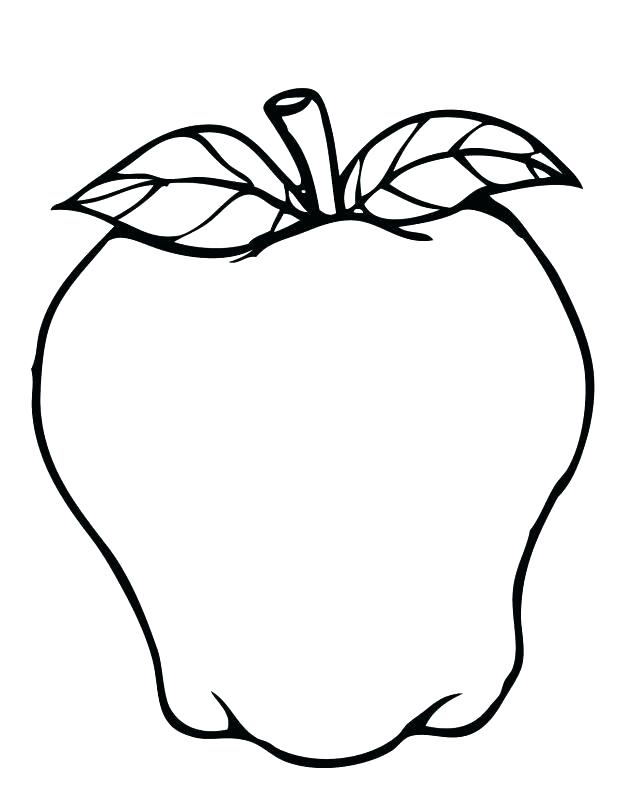 618x800 A Is For Apple Coloring Page Simple Apple Coloring Page Print