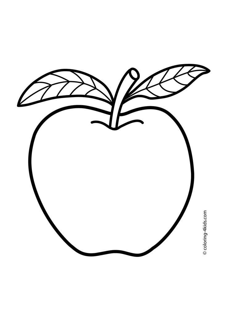 736x1031 Apple Coloring Pages For Kids (Fruits Coloring Pages, Printables
