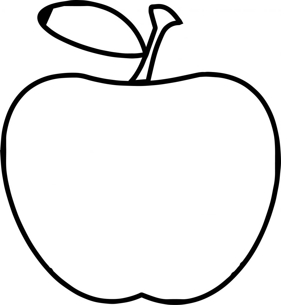 970x1054 Coloring Teacher Apple Simple Coloring Page Wecoloringpage Books
