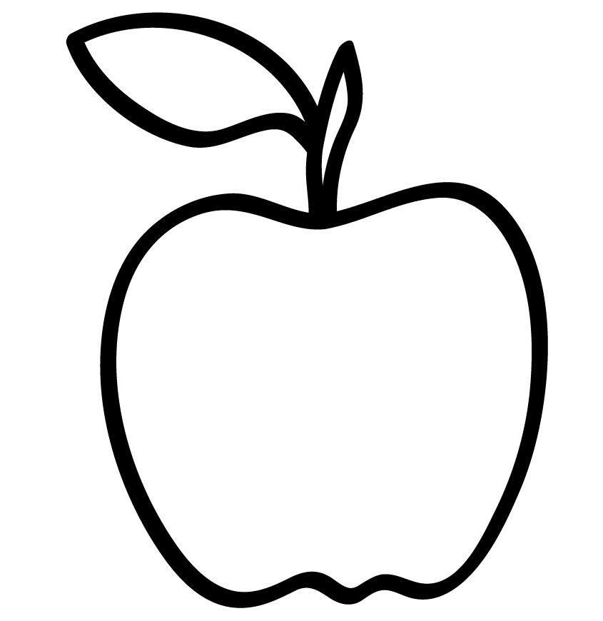 Line Drawing Apple : Simple apple drawing at getdrawings free for