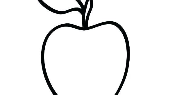 585x329 Simple Apple Coloring Page Print Coloring Pages