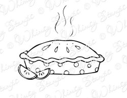 250x193 Simple Apple Pie Drawing Sketch Coloring Page Art
