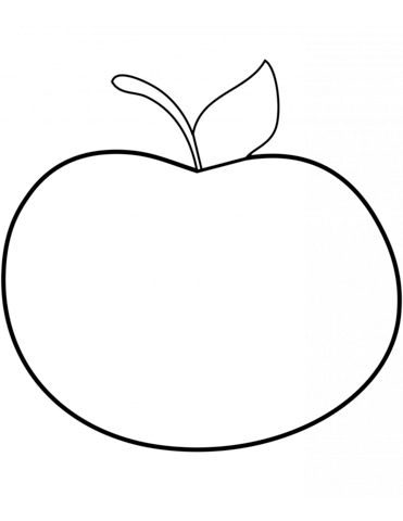 371x480 Simple Apple Coloring Page Free Printable Coloring Pages