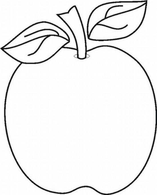 549x681 Apple Coloring Pages For Preschoolers 360coloringpages