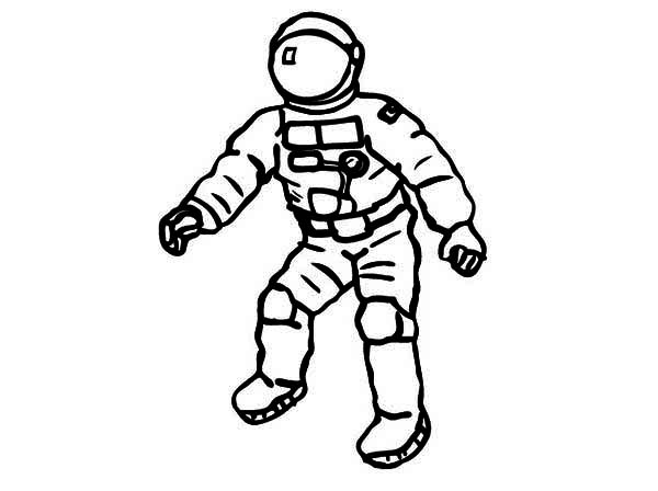 600x448 An Astronaut On His Space Suit Coloring Page