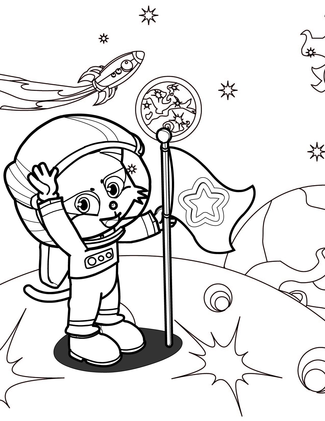 1275x1650 Astronaut Coloring Pages Luxury Astronaut Coloring Pages Cartoon