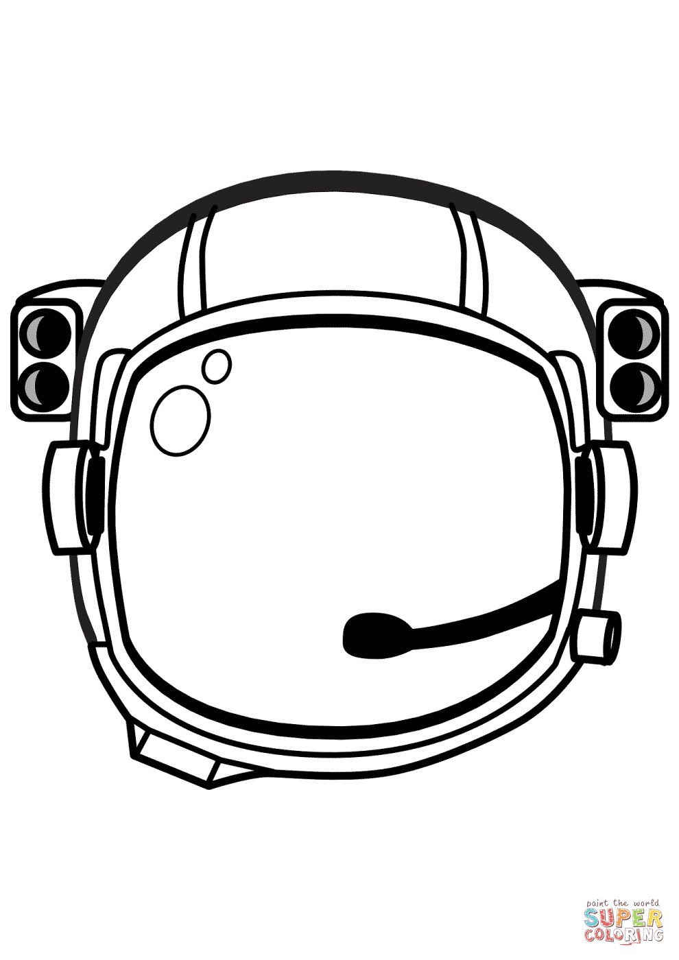 990x1400 Astronaut Helmet Coloring Page Free Printable Coloring Pages