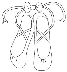 How to Draw Ballet Shoes - An easy, step by step drawing lesson for kids. This tutorial shows the sketching and drawing steps from start to finish. Another free .